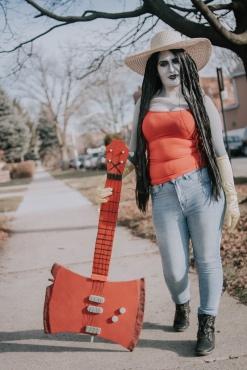 prop maker, marceline, adventure time, cosplay, cosplay blog, marceline axe, Axe bass, bass guitar prop, eva foam, cosplay prop